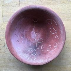 Red Iron bowl. 19cm diam.  £15