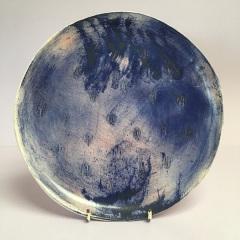 Blue plate. 23cm diam  £20