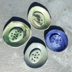 Soap dishes. 10.5 cm diam.  £20 each