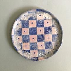Chequer plate 23 cm diam  £20