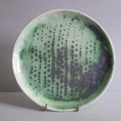 Green plate. 22cm diam. £20